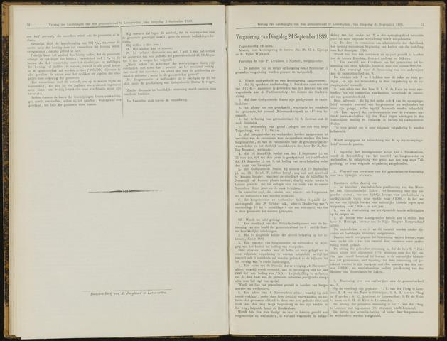 Raadsverslagen van de gemeente Leeuwarden, 1865-2007 (Notulen) 1889-09-24