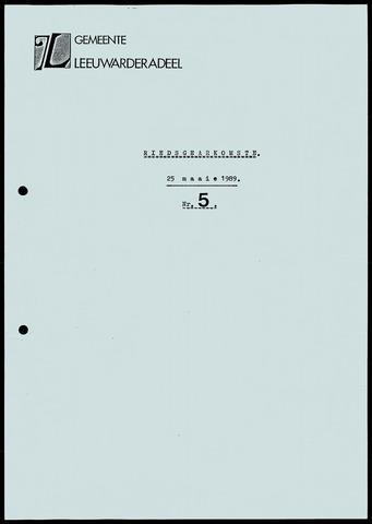 Notulen van de gemeenteraad van Leeuwarderadeel 1989-05-25