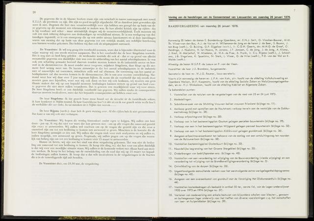 Raadsverslagen van de gemeente Leeuwarden, 1865-2007 (Notulen) 1976-01-26