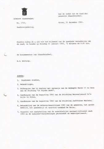 raadsverslagen Idaarderadeel 1935-1983 1983