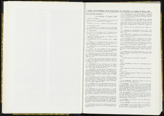 Raadsverslagen van de gemeente Leeuwarden, 1865-2007 (Notulen) 1967-02-20