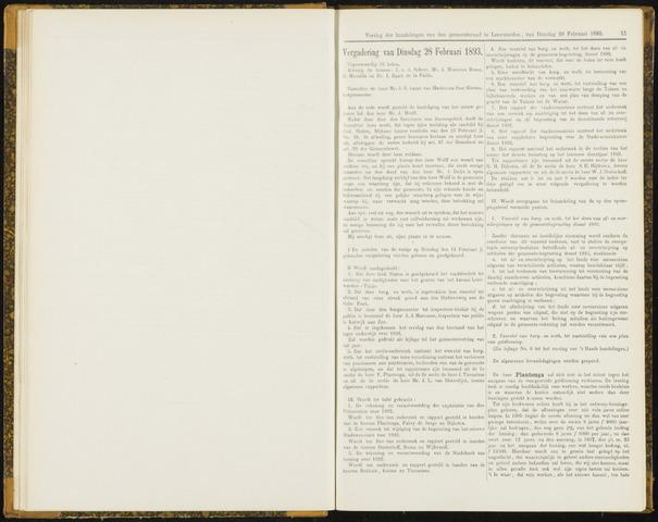 Raadsverslagen van de gemeente Leeuwarden, 1865-2007 (Notulen) 1893-02-28