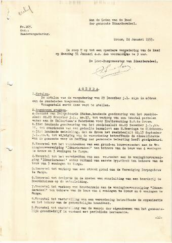 raadsverslagen Idaarderadeel 1935-1983 1955