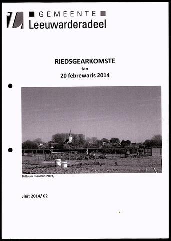Notulen van de gemeenteraad van Leeuwarderadeel 2014-02-20