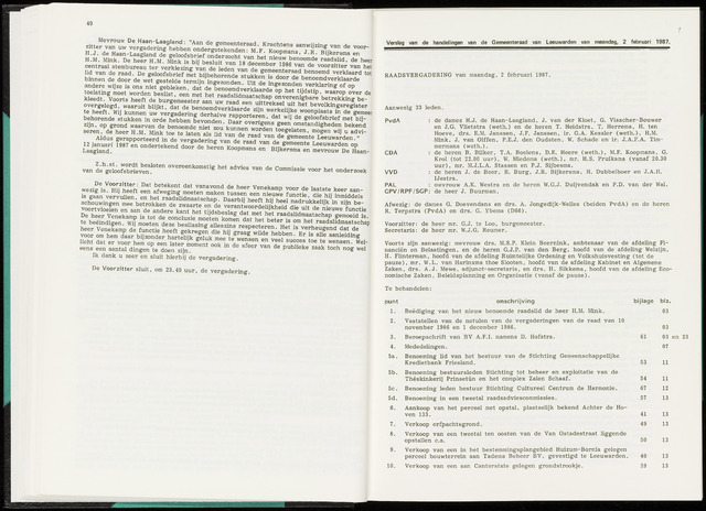 Raadsverslagen van de gemeente Leeuwarden, 1865-2007 (Notulen) 1987-02-02