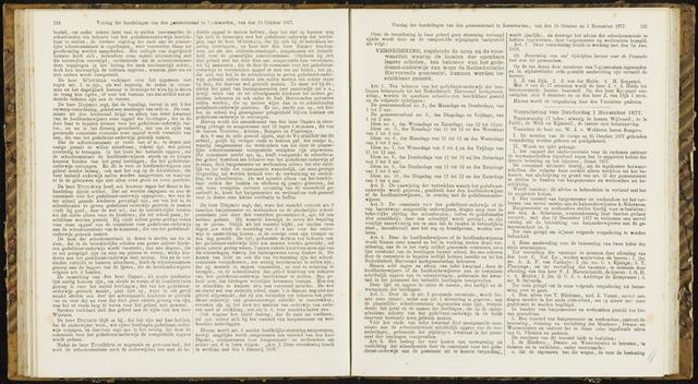 Raadsverslagen van de gemeente Leeuwarden, 1865-2007 (Notulen) 1877-11-01