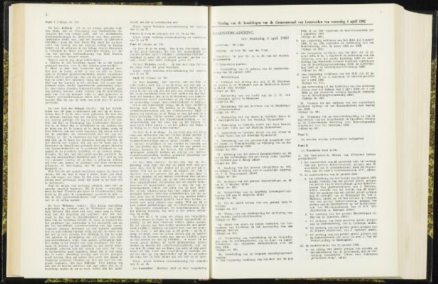 Raadsverslagen van de gemeente Leeuwarden, 1865-2007 (Notulen) 1962-04-04