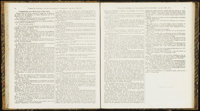 Raadsverslagen van de gemeente Leeuwarden, 1865-2007 (Notulen) 1877-05-09