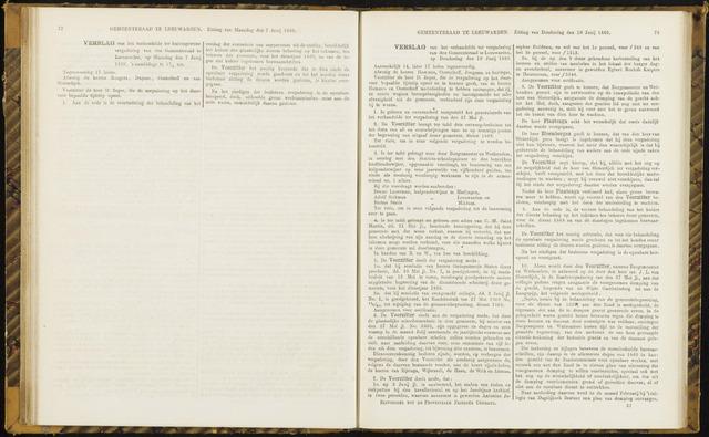 Raadsverslagen van de gemeente Leeuwarden, 1865-2007 (Notulen) 1869-06-10