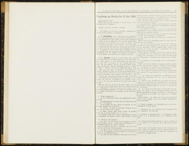 Raadsverslagen van de gemeente Leeuwarden, 1865-2007 (Notulen) 1894-06-12