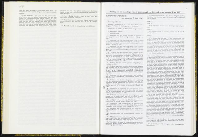 Raadsverslagen van de gemeente Leeuwarden, 1865-2007 (Notulen) 1967-06-05