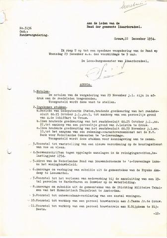 raadsverslagen Idaarderadeel 1935-1983 1954-12-29
