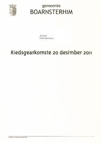 Boarnsterhim vergaderstukken gemeenteraad  2011-12-20