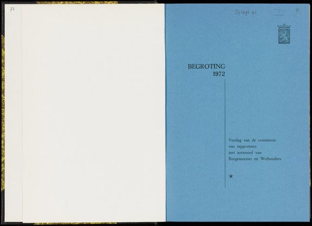 Raadsverslagen van de gemeente Leeuwarden, 1865-2007 (Bijlagen) 1972-01-01