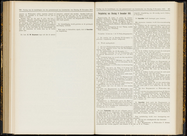 Raadsverslagen van de gemeente Leeuwarden, 1865-2007 (Notulen) 1913-12-09
