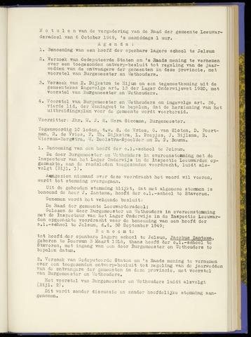 Notulen van de gemeenteraad van Leeuwarderadeel 1949-10-06