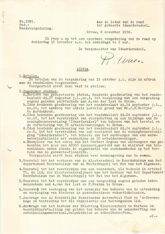 raadsverslagen Idaarderadeel 1935-1983 1956-11-15