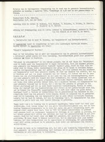 Notulen van de gemeenteraad van Leeuwarderadeel 1969-08-04