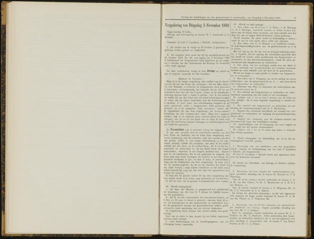Raadsverslagen van de gemeente Leeuwarden, 1865-2007 (Notulen) 1889-11-05