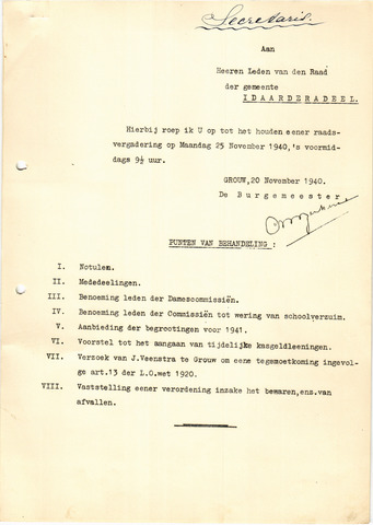 raadsverslagen Idaarderadeel 1935-1983 1940-11-25
