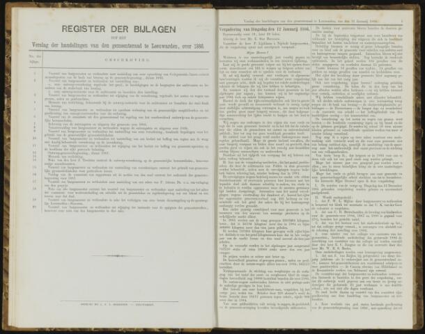 Raadsverslagen van de gemeente Leeuwarden, 1865-2007 (Notulen) 1886