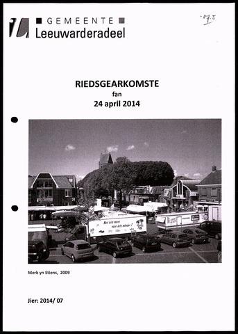 Notulen van de gemeenteraad van Leeuwarderadeel 2014-04-24
