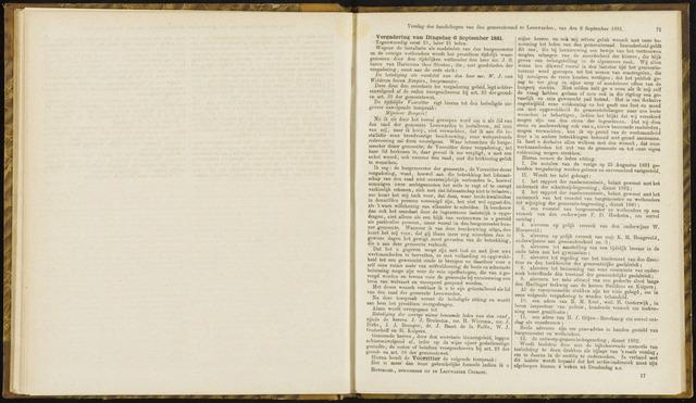 Raadsverslagen van de gemeente Leeuwarden, 1865-2007 (Notulen) 1881-09-06