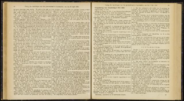 Raadsverslagen van de gemeente Leeuwarden, 1865-2007 (Notulen) 1884-05-08