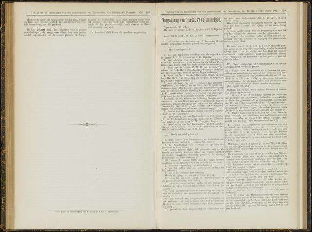 Raadsverslagen van de gemeente Leeuwarden, 1865-2007 (Notulen) 1900-11-27