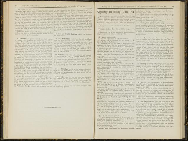 Raadsverslagen van de gemeente Leeuwarden, 1865-2007 (Notulen) 1904-06-14