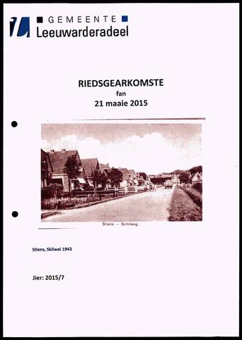 Notulen van de gemeenteraad van Leeuwarderadeel 2015-05-21