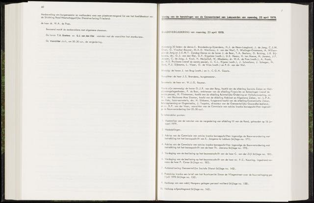 Raadsverslagen van de gemeente Leeuwarden, 1865-2007 (Notulen) 1979-04-23