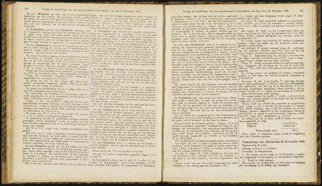 Raadsverslagen van de gemeente Leeuwarden, 1865-2007 (Notulen) 1882-11-23