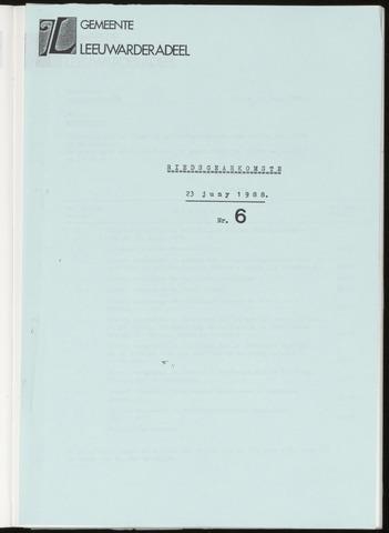 Notulen van de gemeenteraad van Leeuwarderadeel 1988-06-23