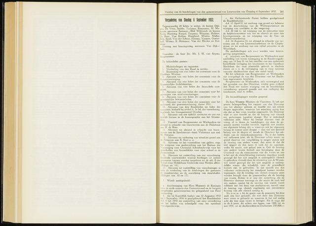 Raadsverslagen van de gemeente Leeuwarden, 1865-2007 (Notulen) 1932-09-06