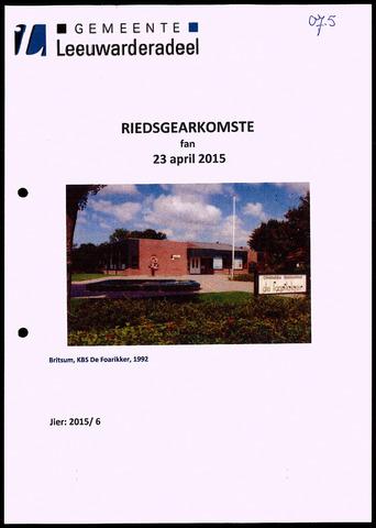 Notulen van de gemeenteraad van Leeuwarderadeel 2015-04-23