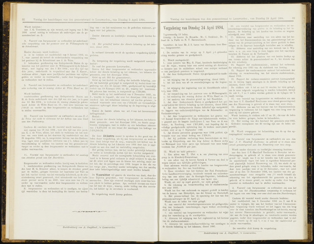 Raadsverslagen van de gemeente Leeuwarden, 1865-2007 (Notulen) 1894-04-24