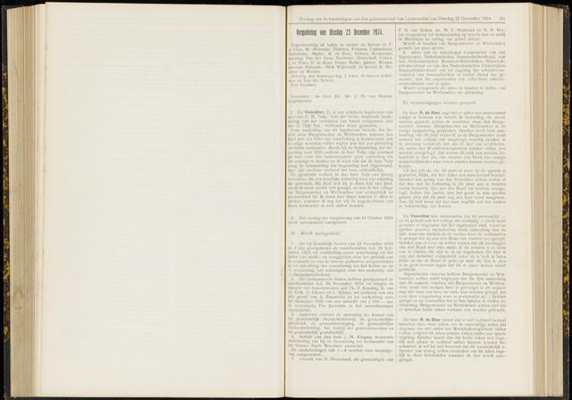 Raadsverslagen van de gemeente Leeuwarden, 1865-2007 (Notulen) 1924-12-23