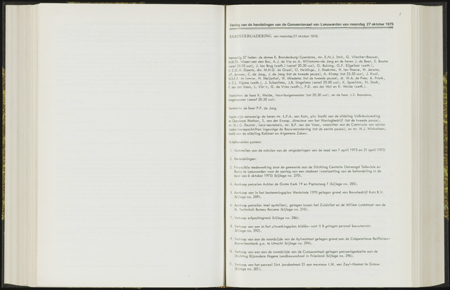 Raadsverslagen van de gemeente Leeuwarden, 1865-2007 (Notulen) 1975-10-27