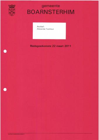 Boarnsterhim vergaderstukken gemeenteraad  2011-03-22