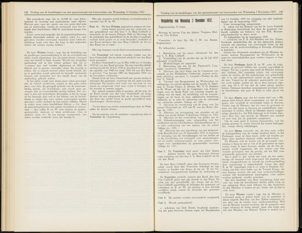 Raadsverslagen van de gemeente Leeuwarden, 1865-2007 (Notulen) 1937-11-03