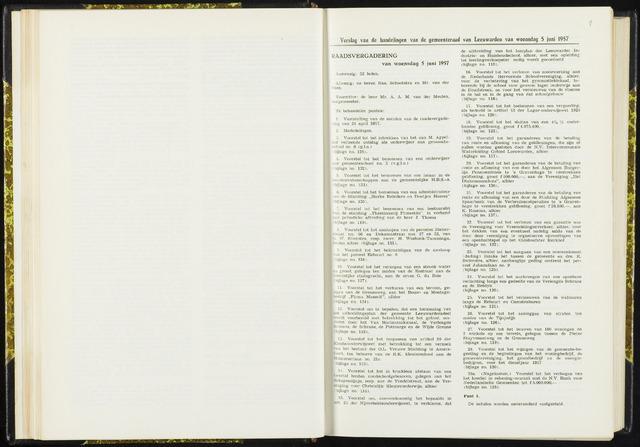 Raadsverslagen van de gemeente Leeuwarden, 1865-2007 (Notulen) 1957-06-05