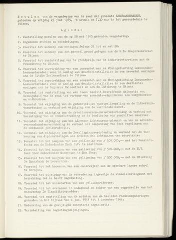 Notulen van de gemeenteraad van Leeuwarderadeel 1965-06-25