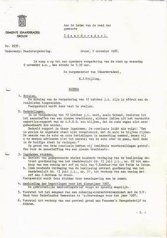 raadsverslagen Idaarderadeel 1935-1983 1966-11-09