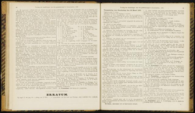 Raadsverslagen van de gemeente Leeuwarden, 1865-2007 (Notulen) 1871-03-23