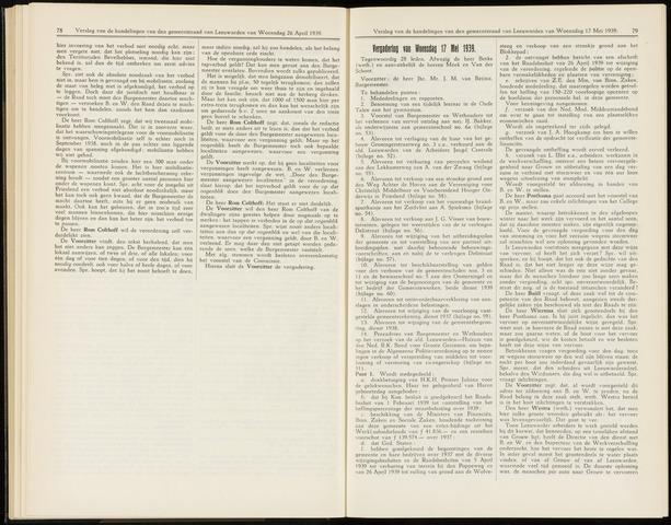 Raadsverslagen van de gemeente Leeuwarden, 1865-2007 (Notulen) 1939-05-17
