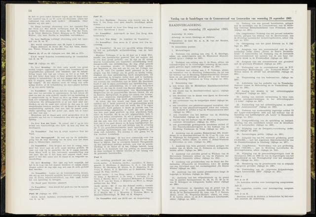 Raadsverslagen van de gemeente Leeuwarden, 1865-2007 (Notulen) 1965-09-29