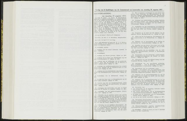 Raadsverslagen van de gemeente Leeuwarden, 1865-2007 (Notulen) 1972-08-28