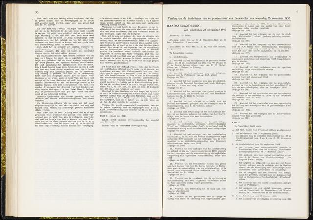Raadsverslagen van de gemeente Leeuwarden, 1865-2007 (Notulen) 1956-11-28