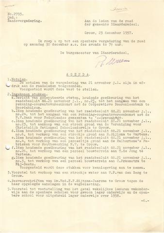 raadsverslagen Idaarderadeel 1935-1983 1957-12-30